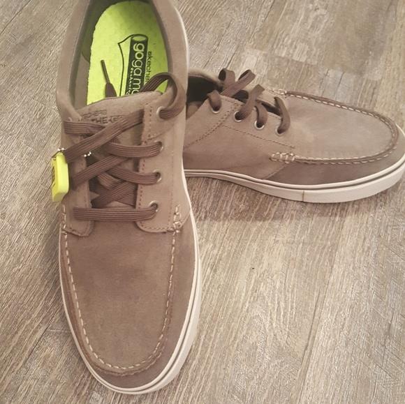 New Mens Skechers Goga Mat Boat Shoe